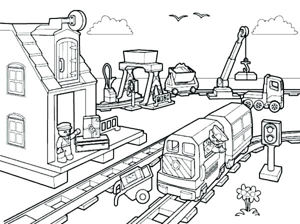 600x449 City Coloring Pages Spring Coloring Worksheets City Coloring Pages