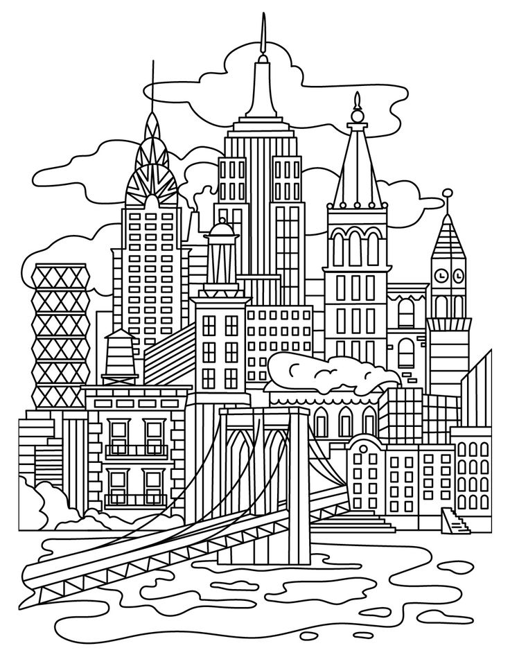 736x948 Best Architecture Coloring Pages For Adults Images