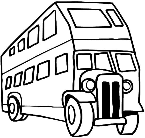 600x571 City Bus Coloring Page