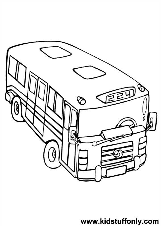 567x794 City Bus Coloring Page
