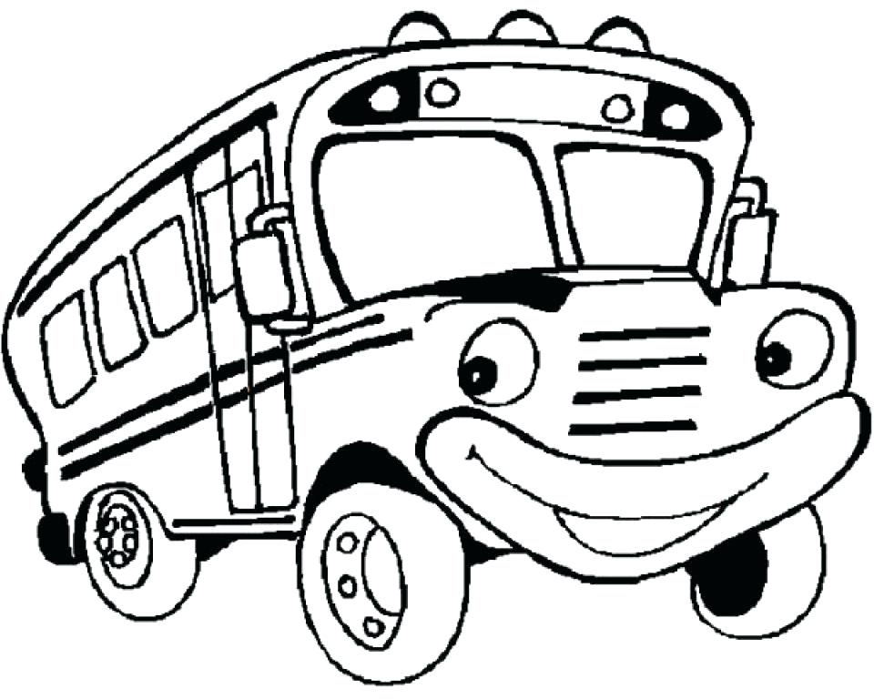 960x768 Coloring Page Bus Bus Coloring Page Bus Colouring Pages A Double