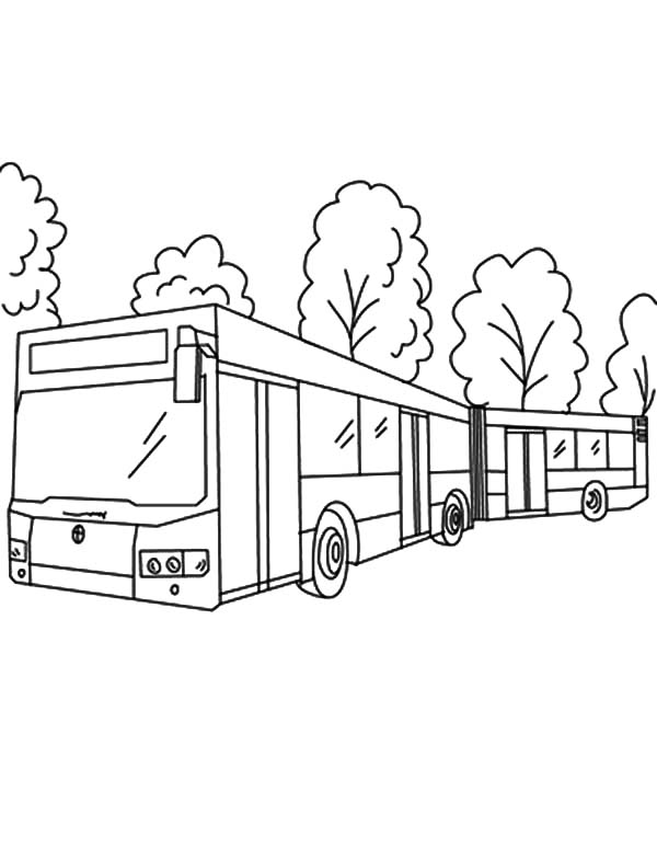 600x775 Folding Bellows City Bus Turn Around Coloring Pages