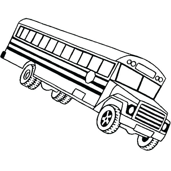 600x600 Free Printable School Bus Coloring Page To Color Pages Of Sheets