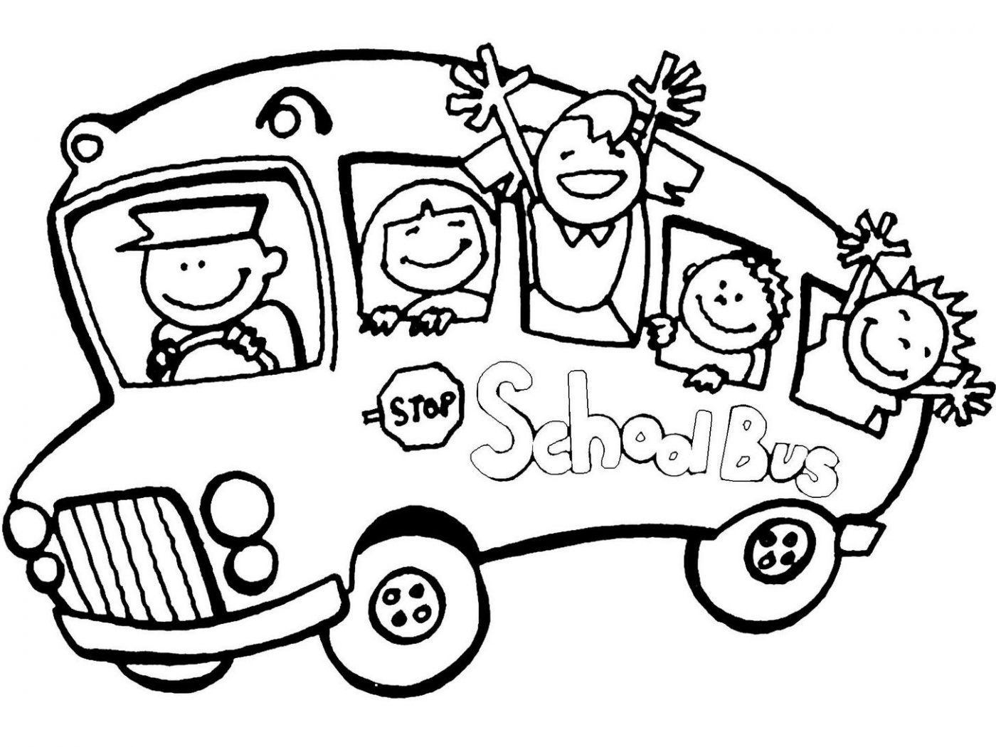 1400x1050 Free Printable School Bus Coloring Pages For Kids Safety Buses