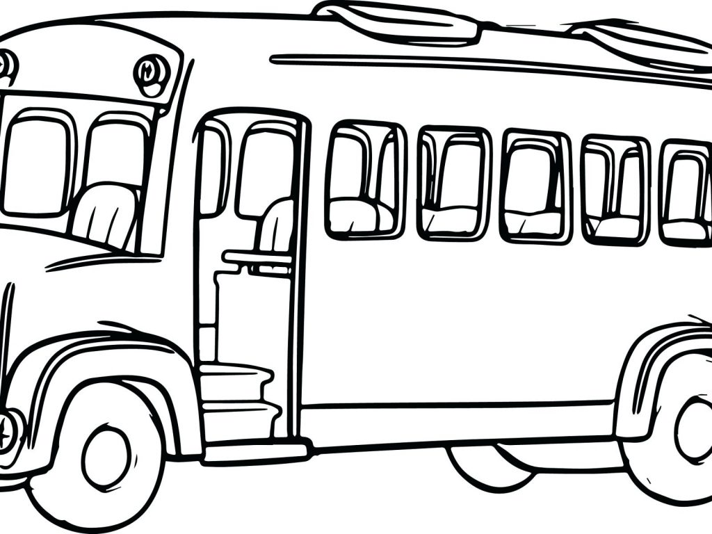 1024x768 Coloring Page School Bus Coloring Pages Colors For Kids