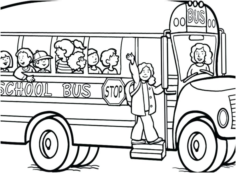 827x609 Bus Coloring Page School Bus Coloring Page City Bus Coloring Page