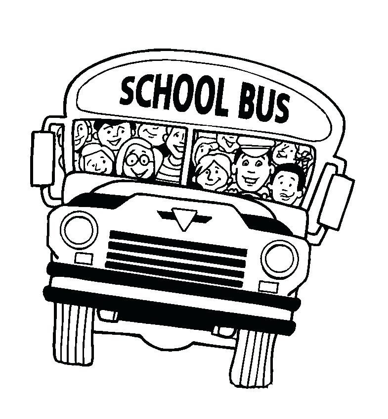 785x846 Bus Coloring Pages School Bus Coloring Pages To Print School Bus