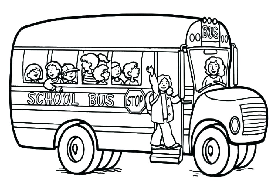 960x667 Bus Coloring Pages Two Side View City Bus Coloring Pages Free