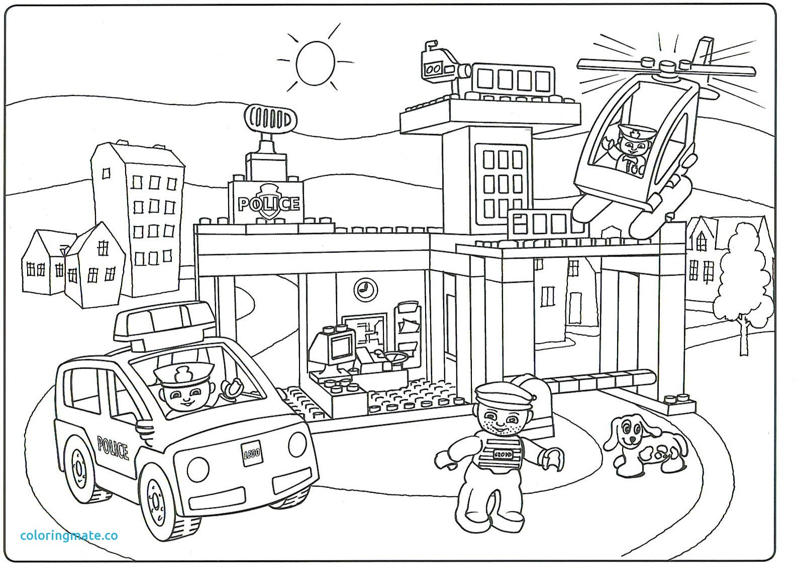 1586x1123 City Coloring Pages