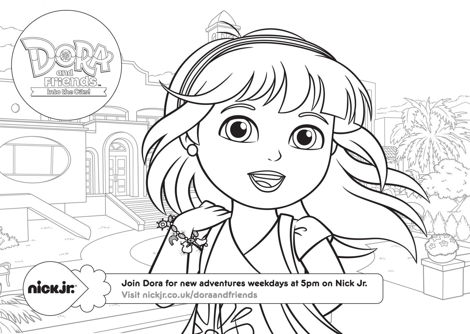 1600x1139 Dora And Friends Coloring Pages Games Best Of Dora Into The City