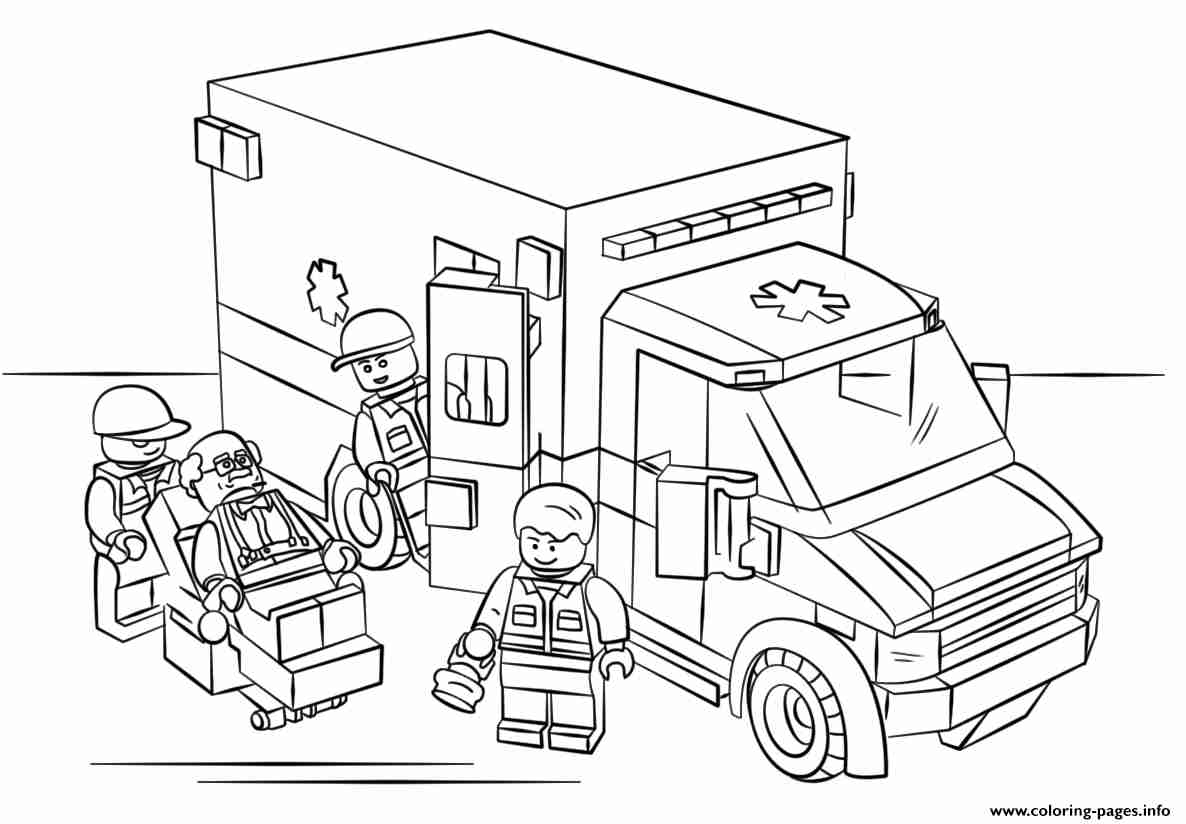1186x824 Lego City Coloring Pages Free Printable With Lego City Olegratiy