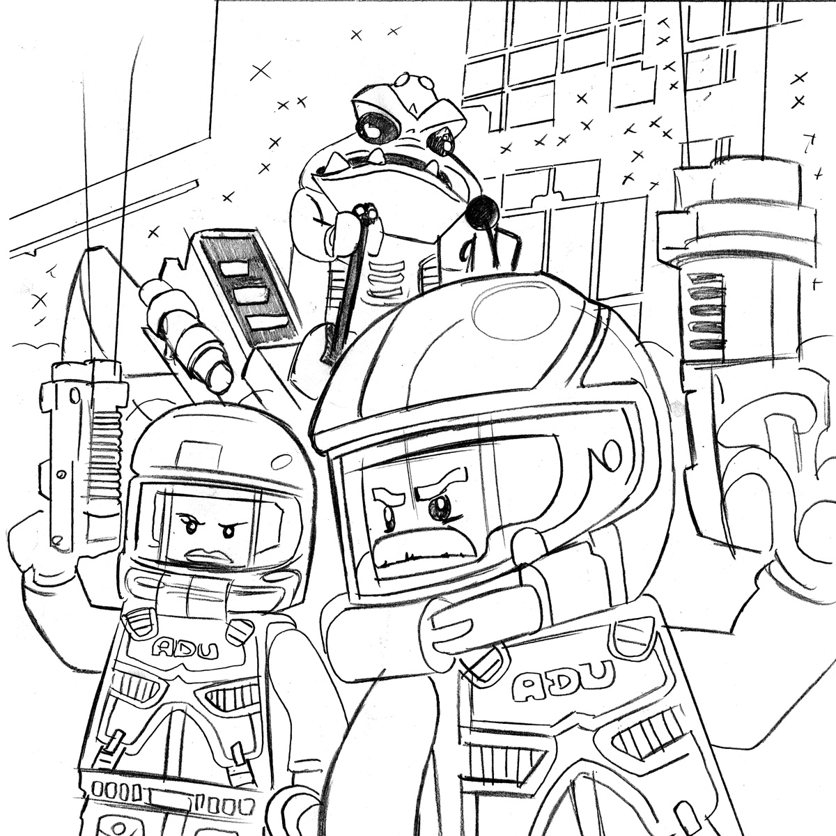 1200x1200 Lego City Coloring Pages