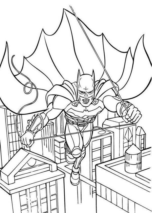 600x840 Batman Gotham City Coloring Pages