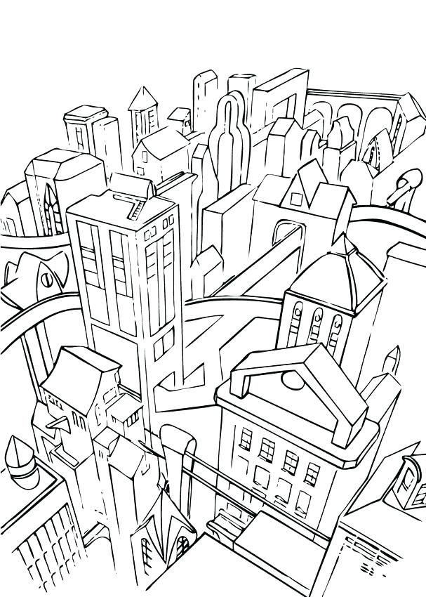 607x850 City Coloring Page City Coloring Pages Graffiti Coloring Pages