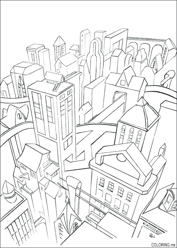 567x794 City Coloring Pages City Coloring Page City Coloring Pages Town