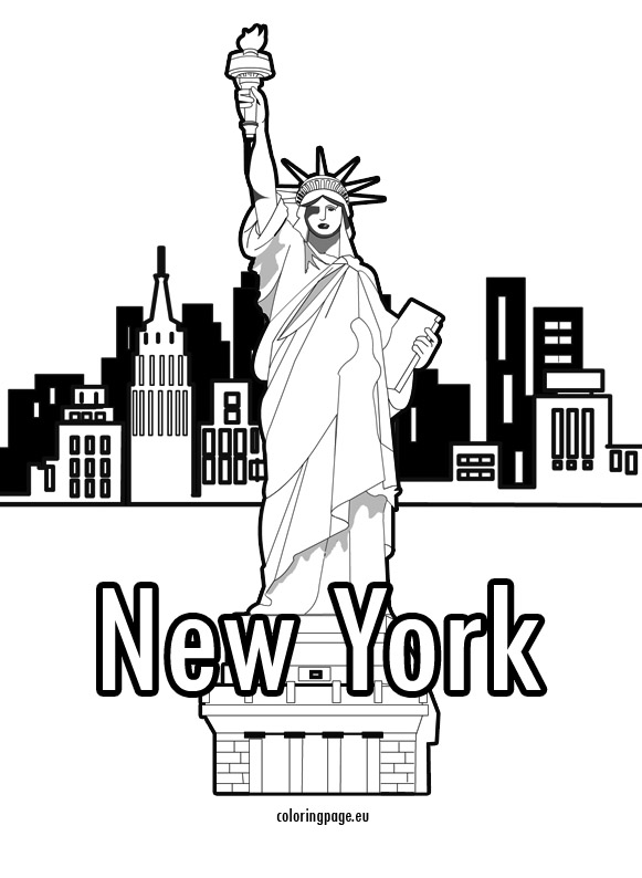 581x794 New York City Coloring Pages