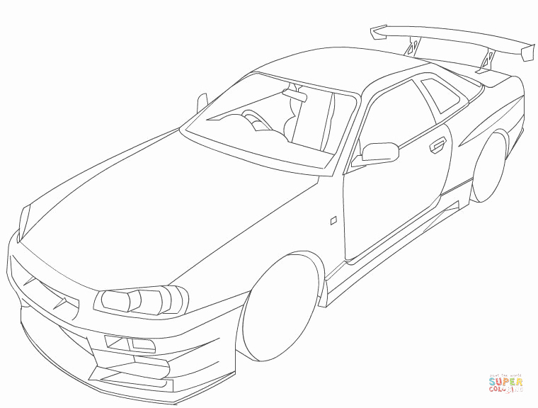 760x576 Nissan Skyline Coloring Page City Skyline Coloring Pages