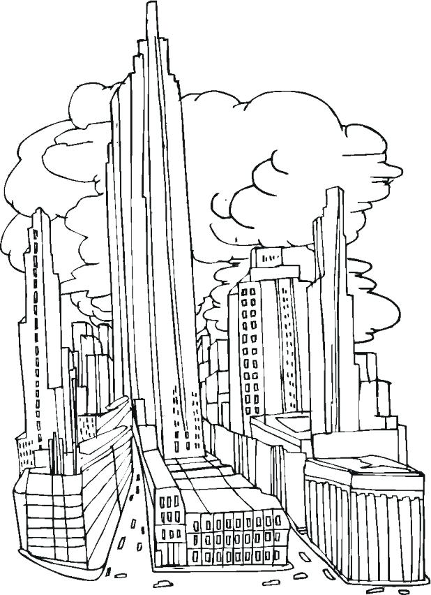 618x852 Chicago Skyline Coloring Page Bulls Basketball Coloring Pages