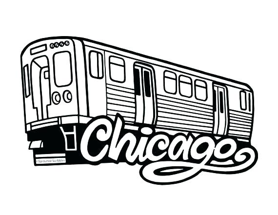570x441 Chicago Skyline Coloring Page Coloring Pages Free Download Line