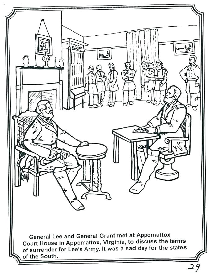 680x900 Civil War Coloring Pages Civil War Coloring Page General Lee