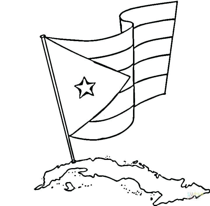 720x706 Confederate Flag Coloring Page
