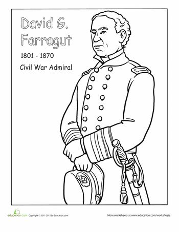 Civil War Soldier Coloring Page