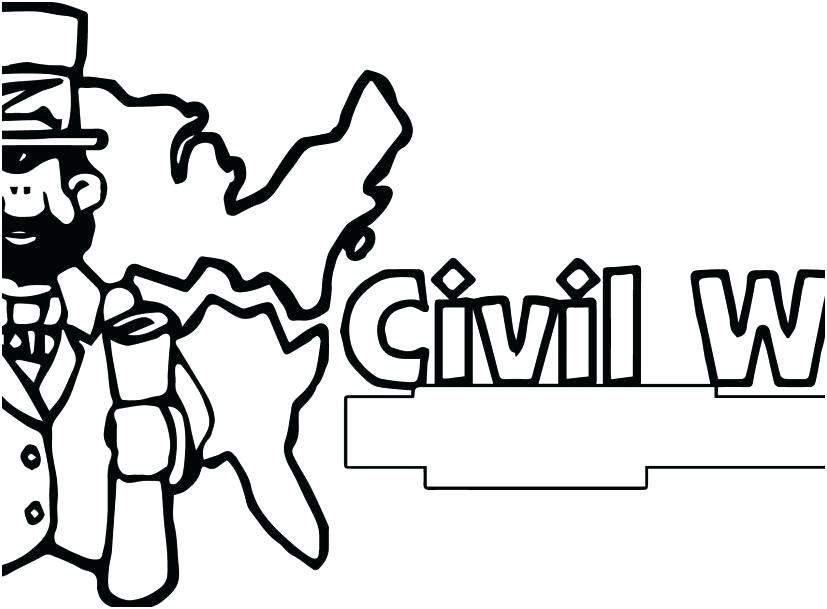 827x609 Civil War Coloring Pages Revolutionary War Coloring Pages Civil