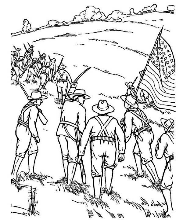 600x720 Civil War Soldier Coloring Page Free Free Coloring Sheets
