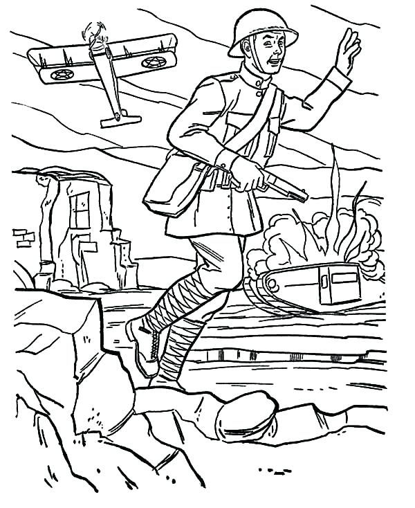 600x734 War Coloring Pages Japan Military World War Coloring Pages