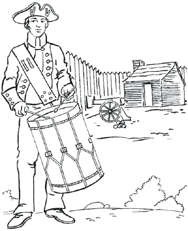 600x740 Colonial Soldier Coloring Page Colonial Coloring Pages Civil War
