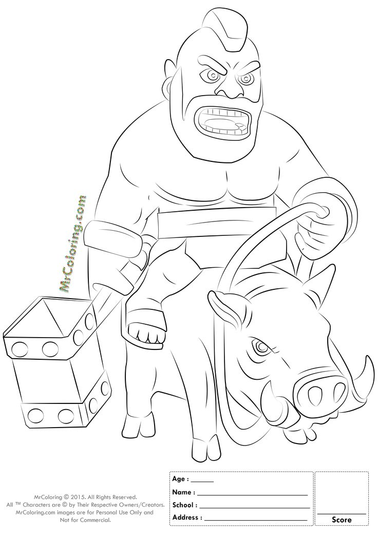 736x1041 Best Clash Of Clans Coloring Pages Images On Clash