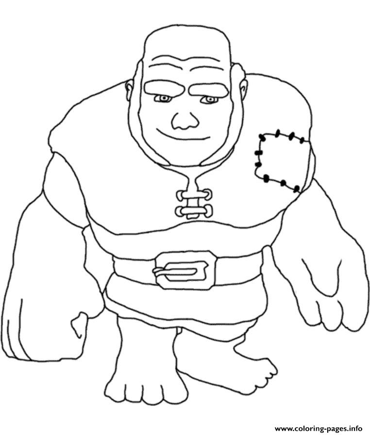 762x895 Giant Clash Of Clans Coloring Pages Printable