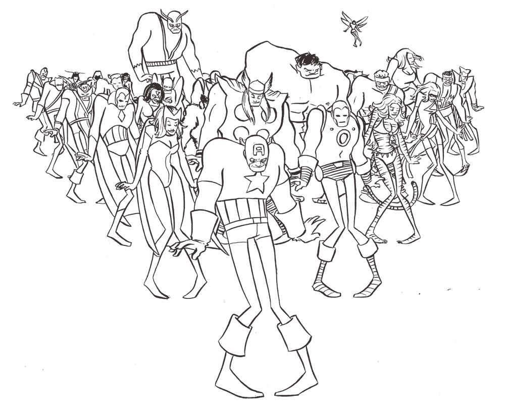 1000x800 Huge Gift Clash Royale Coloring Pages Avengers