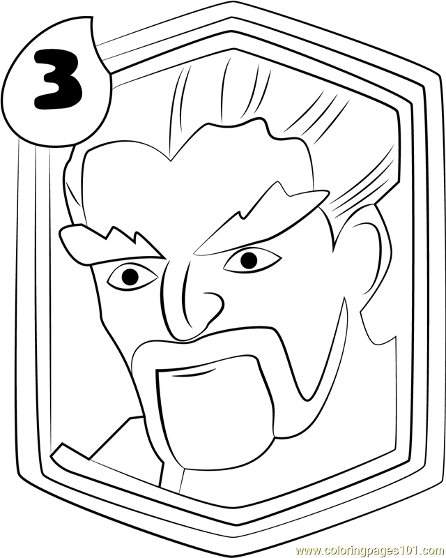 640x800 Ice Wizard Coloring Page