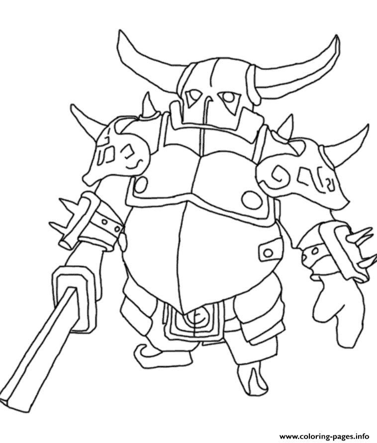 758x889 Print Pekka Clash Of Clans Coloring Pages Clash Of Clans