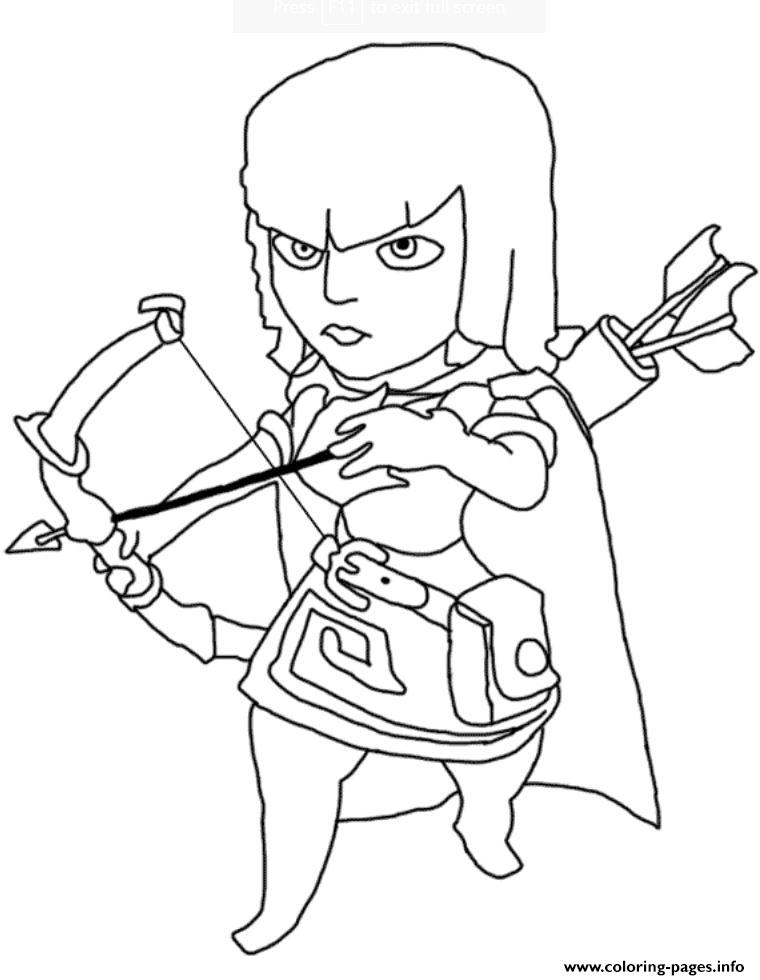 760x980 Print Archer Clash Of Clans Coloring Pages Coloring Pages