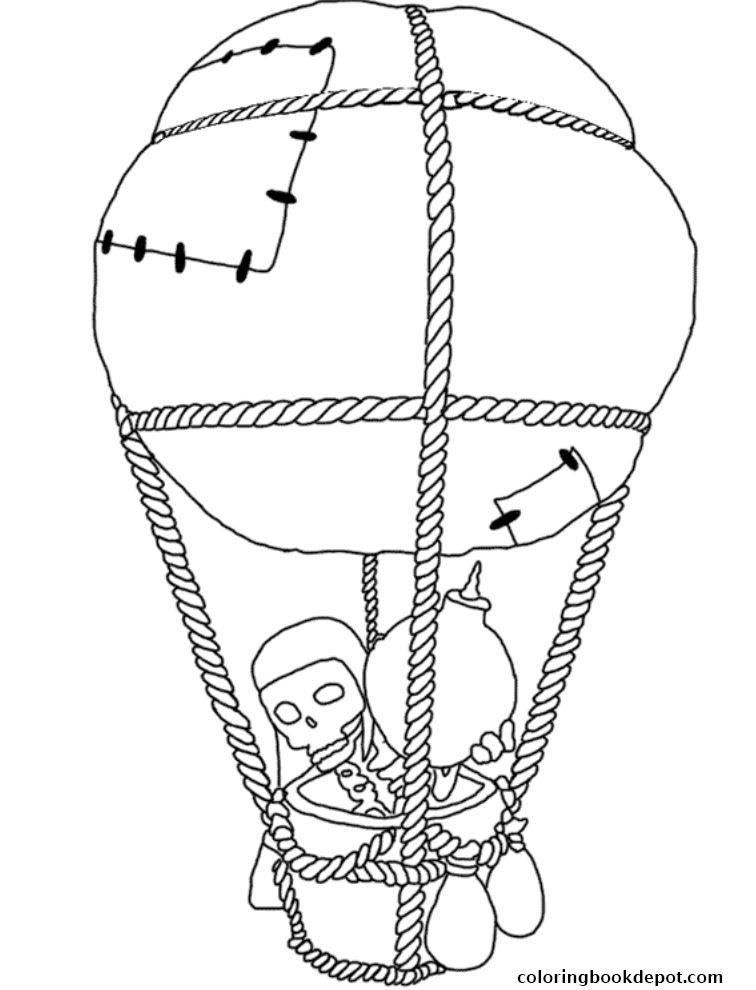 756x990 Balloon Bomb Clash Of Clans Coloring Pages