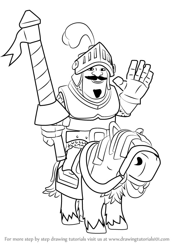601x844 Clash Royale Coloring Pages Lovely Prince Drawing Clash Royale