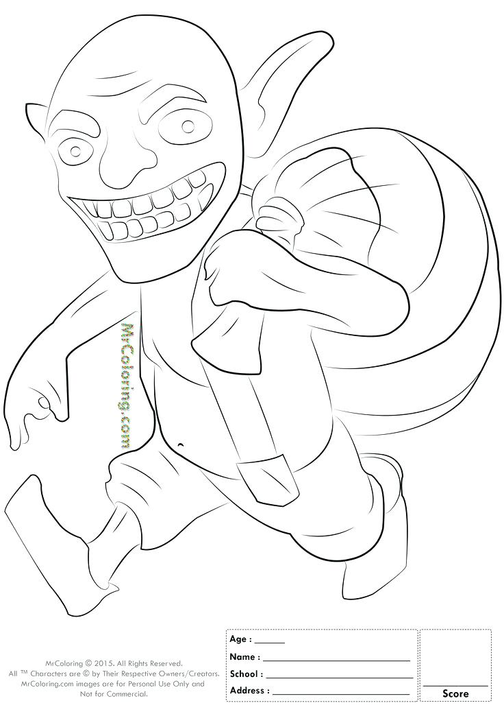 736x1041 Clash Royale Wizard Coloring Pages Free Printable Clash Of Clans