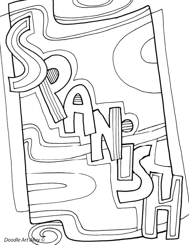 618x800 Coloring Pages For Spanish Class Kids Coloring Subject Coloring