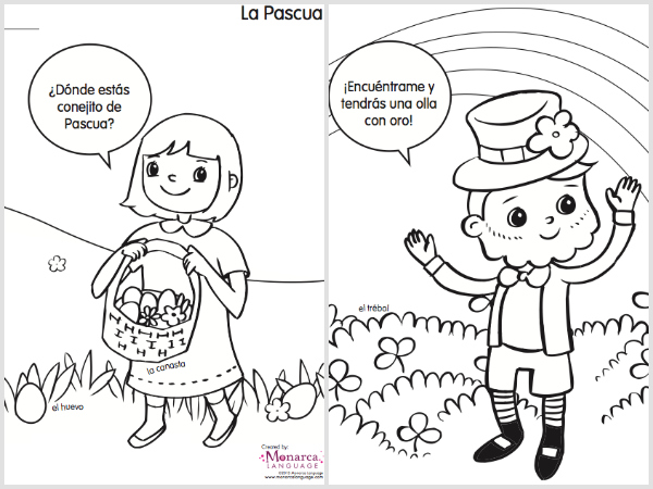 600x450 Coloring Pages In Spanish Spanish Class Coloring Sheets