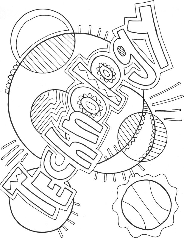 618x800 Computer Technology Coloring Pages