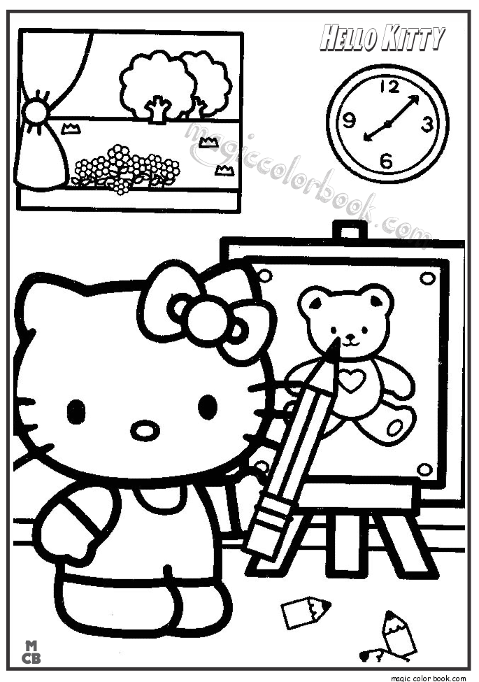 685x975 Hello Kitty Classroom Coloring Pages