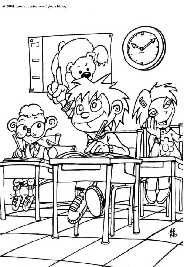 621x900 In The Classroom Coloring Pages