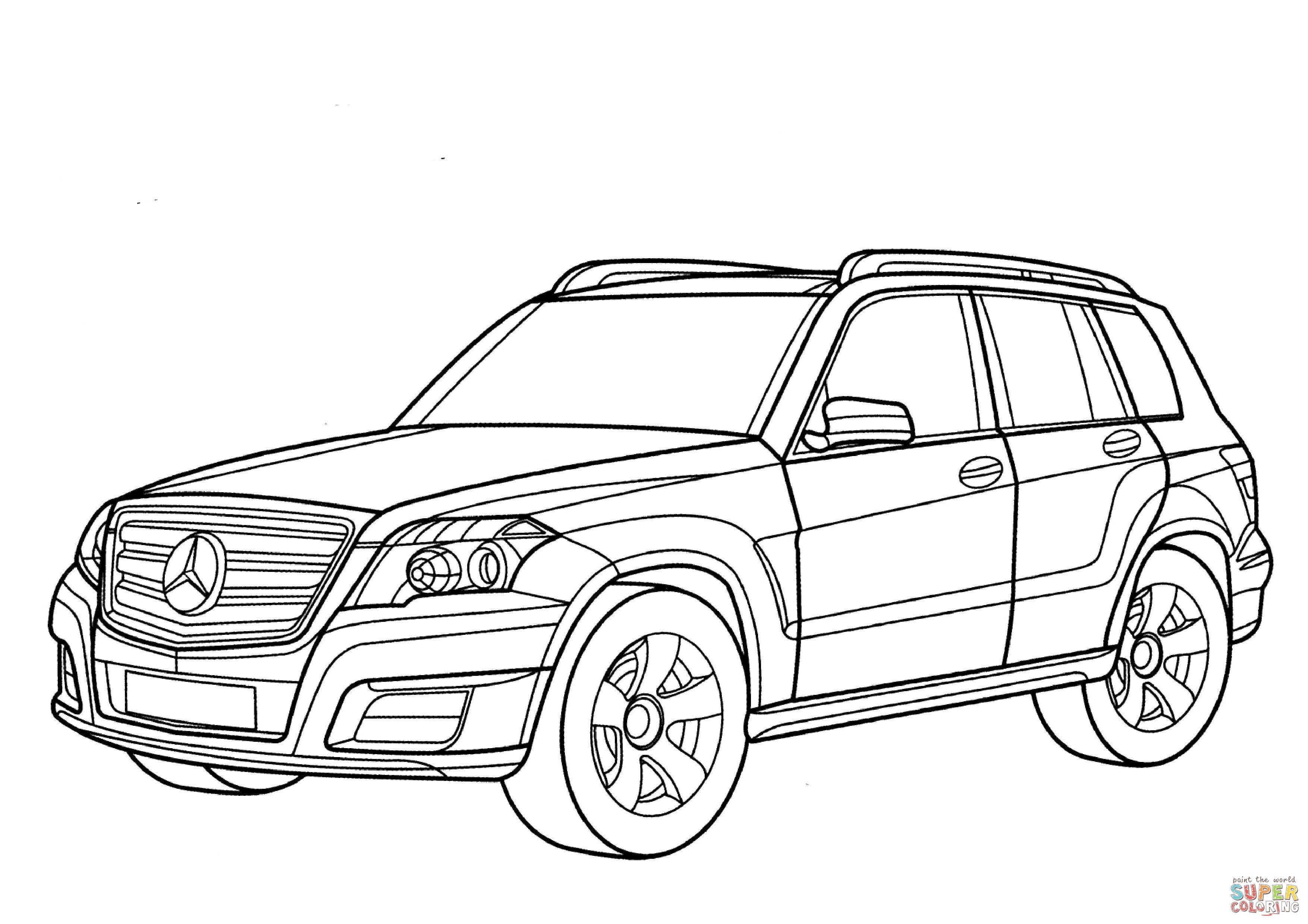 3508x2480 Super Car Mercedes S Class Coloring Page Lovely Mercedes Glk Class