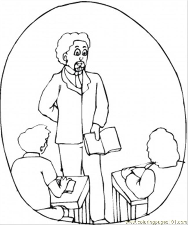 650x781 Teacher In The Class Coloring Page