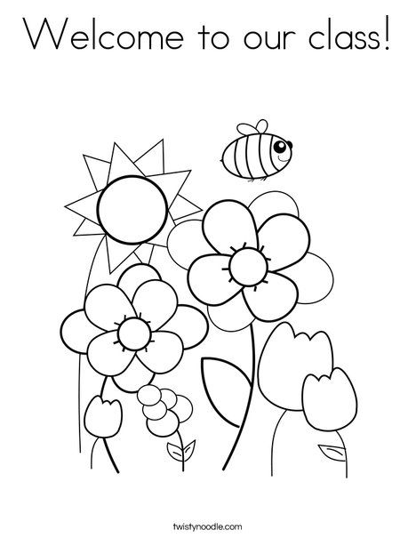 468x605 Welcome To Our Class Coloring Page