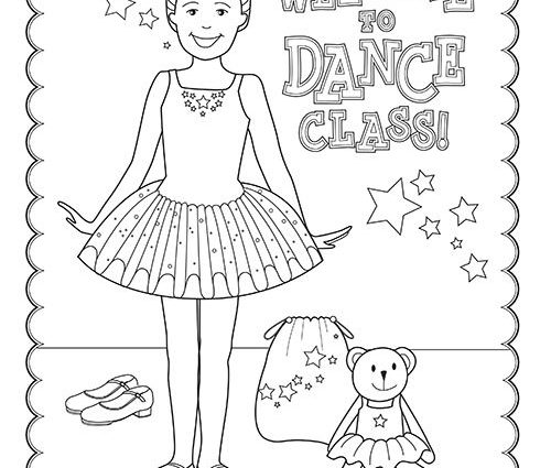 500x425 Free Printable Dance Coloring Pages Free Printable Dance Class