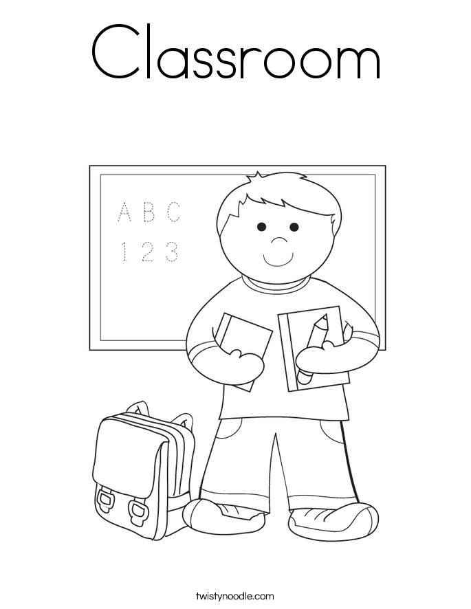 685x886 Classroom Coloring Page