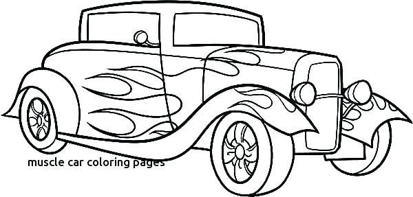 600x287 Classic Car Coloring Pages Muscle Cars Coloring Pages For Muscle